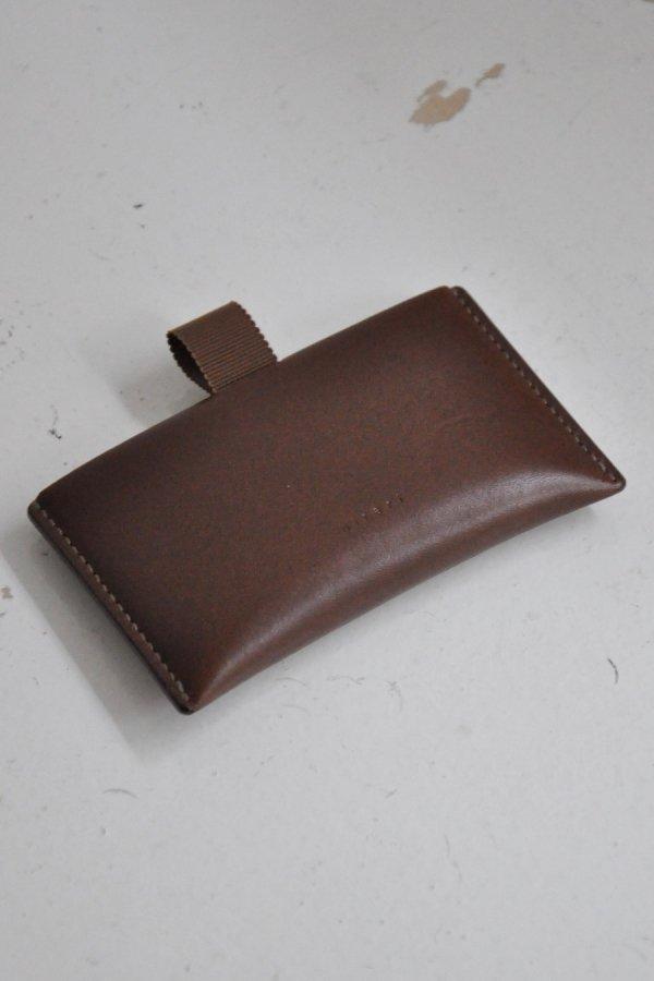 hirari / CARD CASE / CHOCOLATE