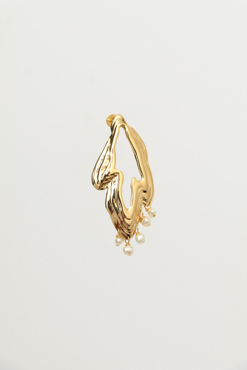 Freshwater pearl embellished earrings