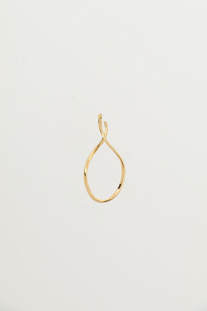 Twist wave ear cuff (Gold)