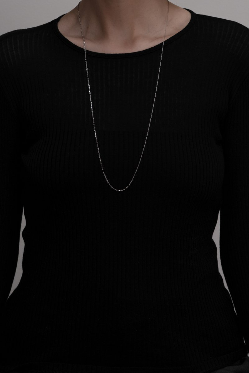 Baroque pearl mix chain necklace(silver)