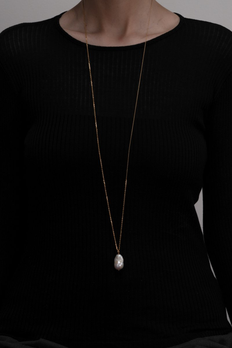 Baroque pearl mix chain (Gold)