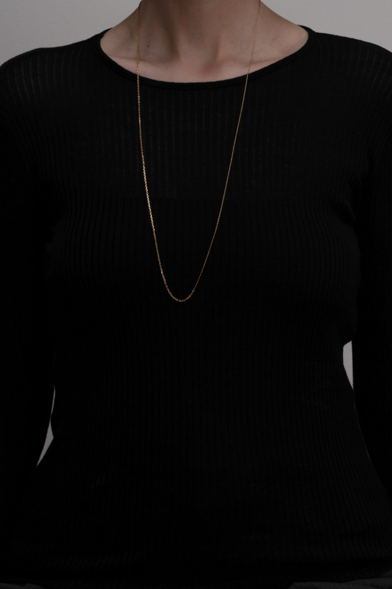 Baroque pearl mix chain necklace(gold)