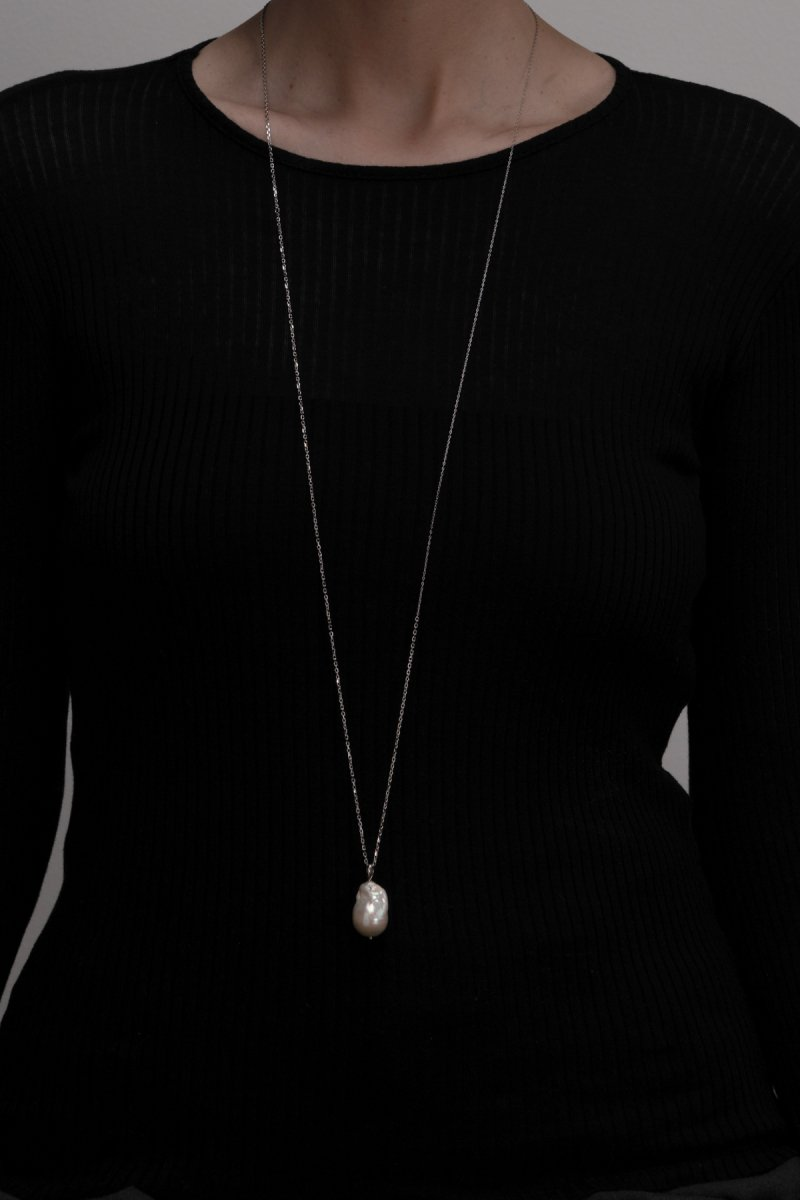 Mix chain necklace(silver)