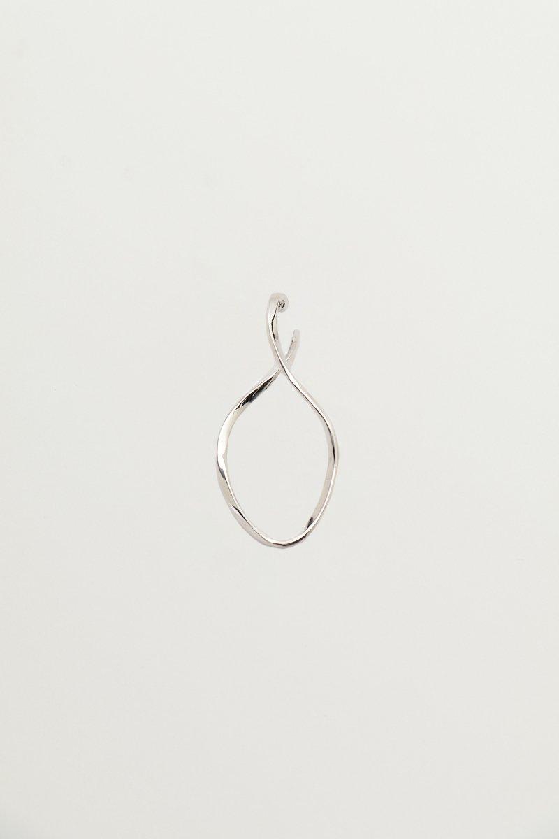 Baroque pearl twist wave (Silver)