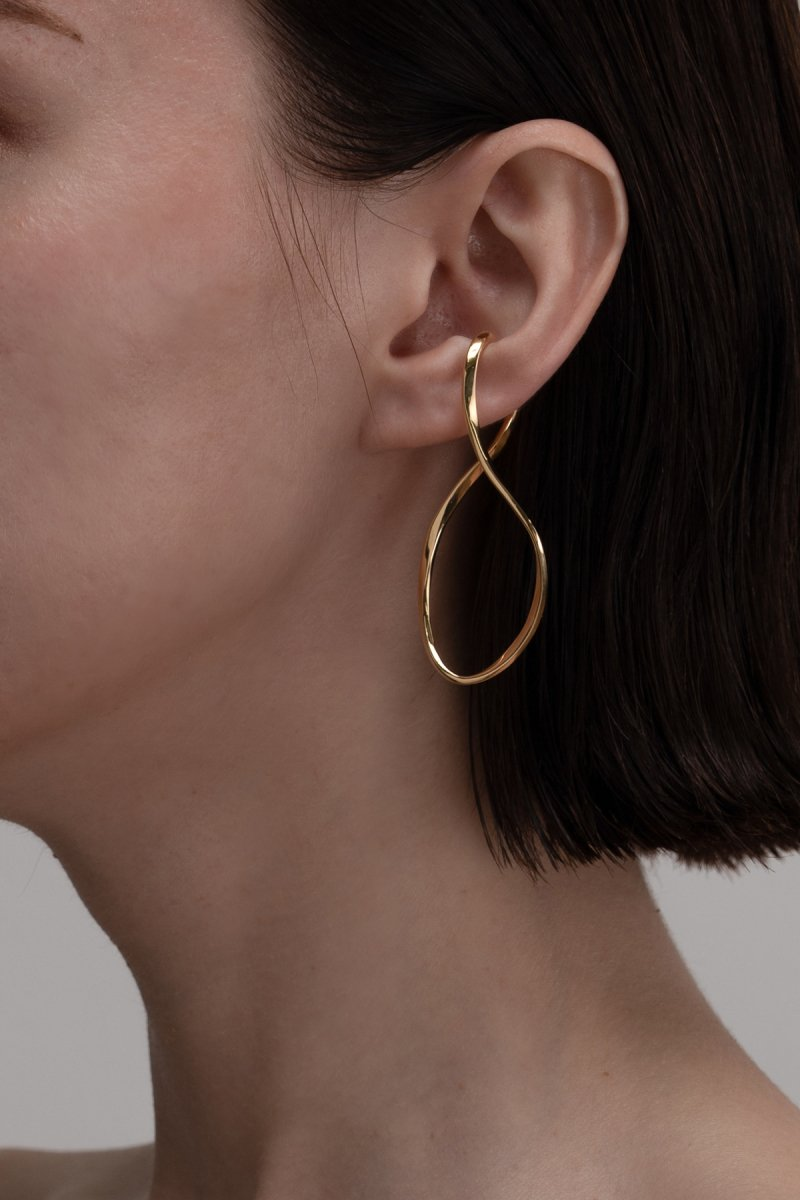 Baroque pearl twist wave (Gold)