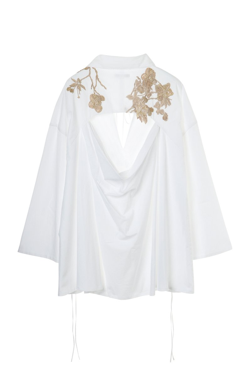 Oversized embroidery tunic