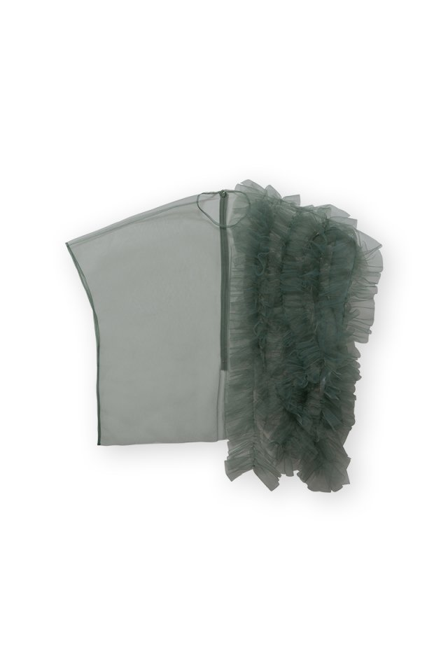 Coming soon!! Sustainable tulle decorative french sleeve p/o (sage green)
