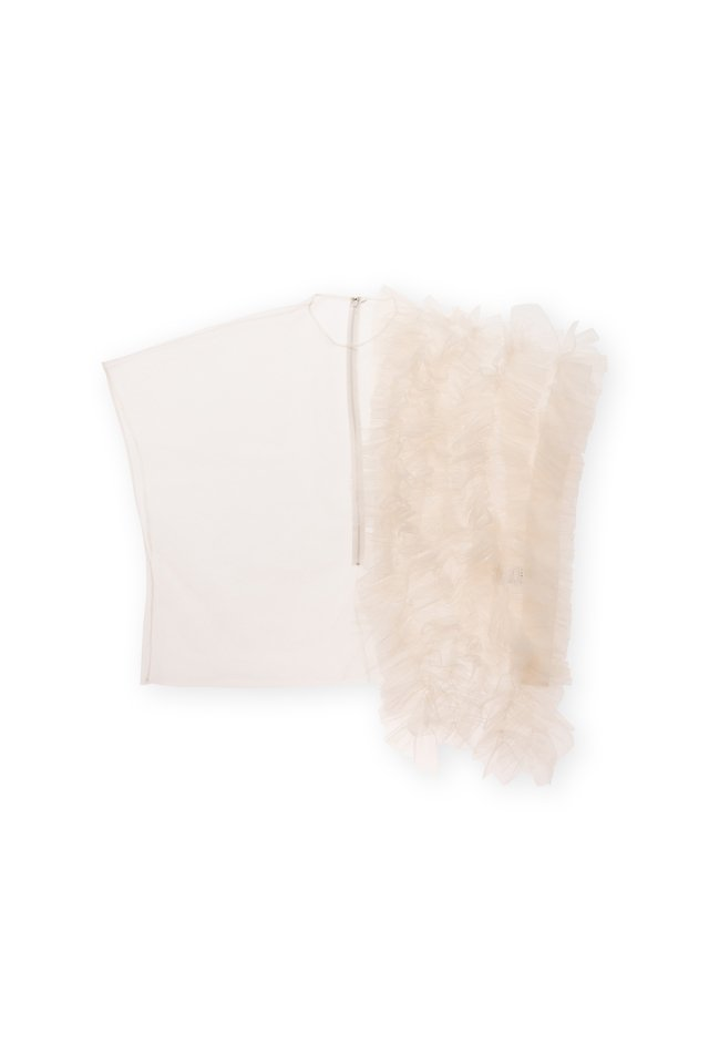 Coming soon!! Sustainable tulle decorative french sleeve p/o (ivory)