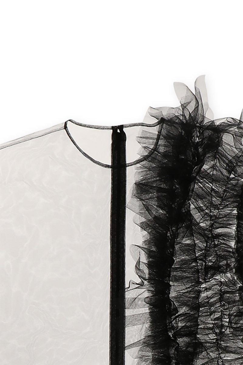 Sustainable tulle decorative french sleeve p/o (Black)