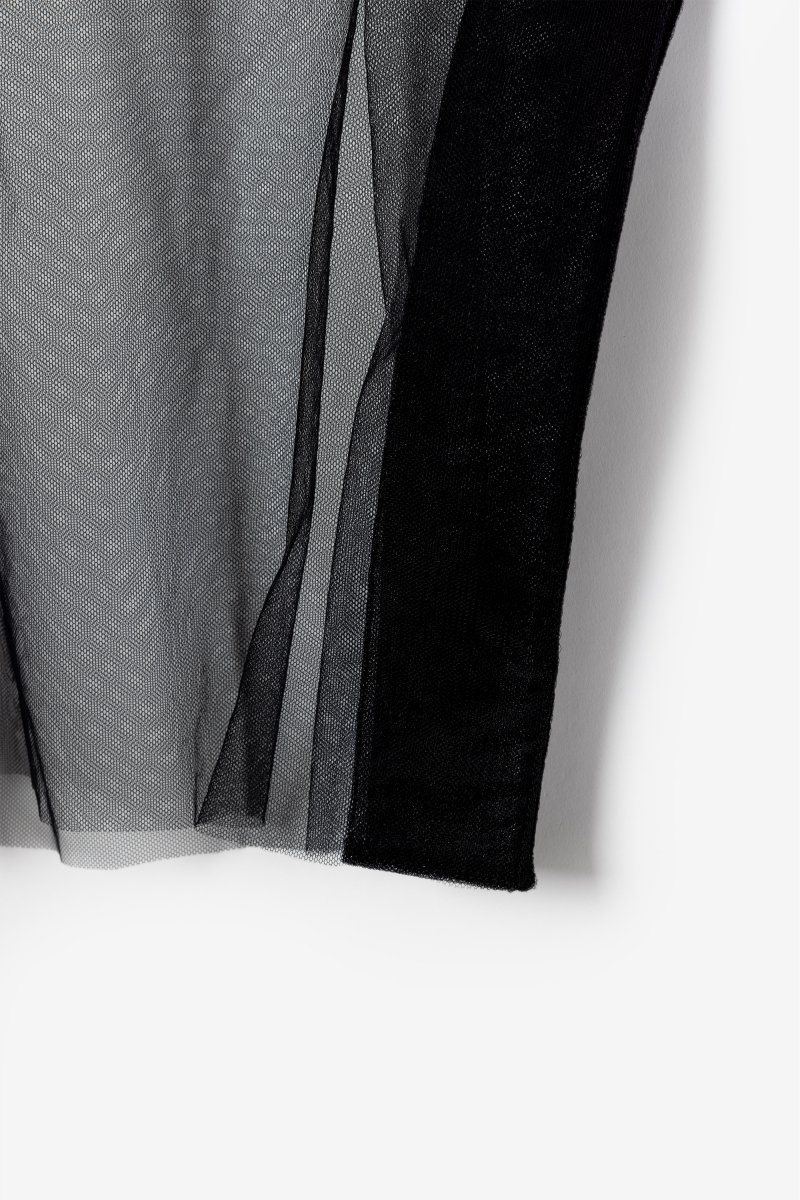 Tulle french sleeve p/o (Black)