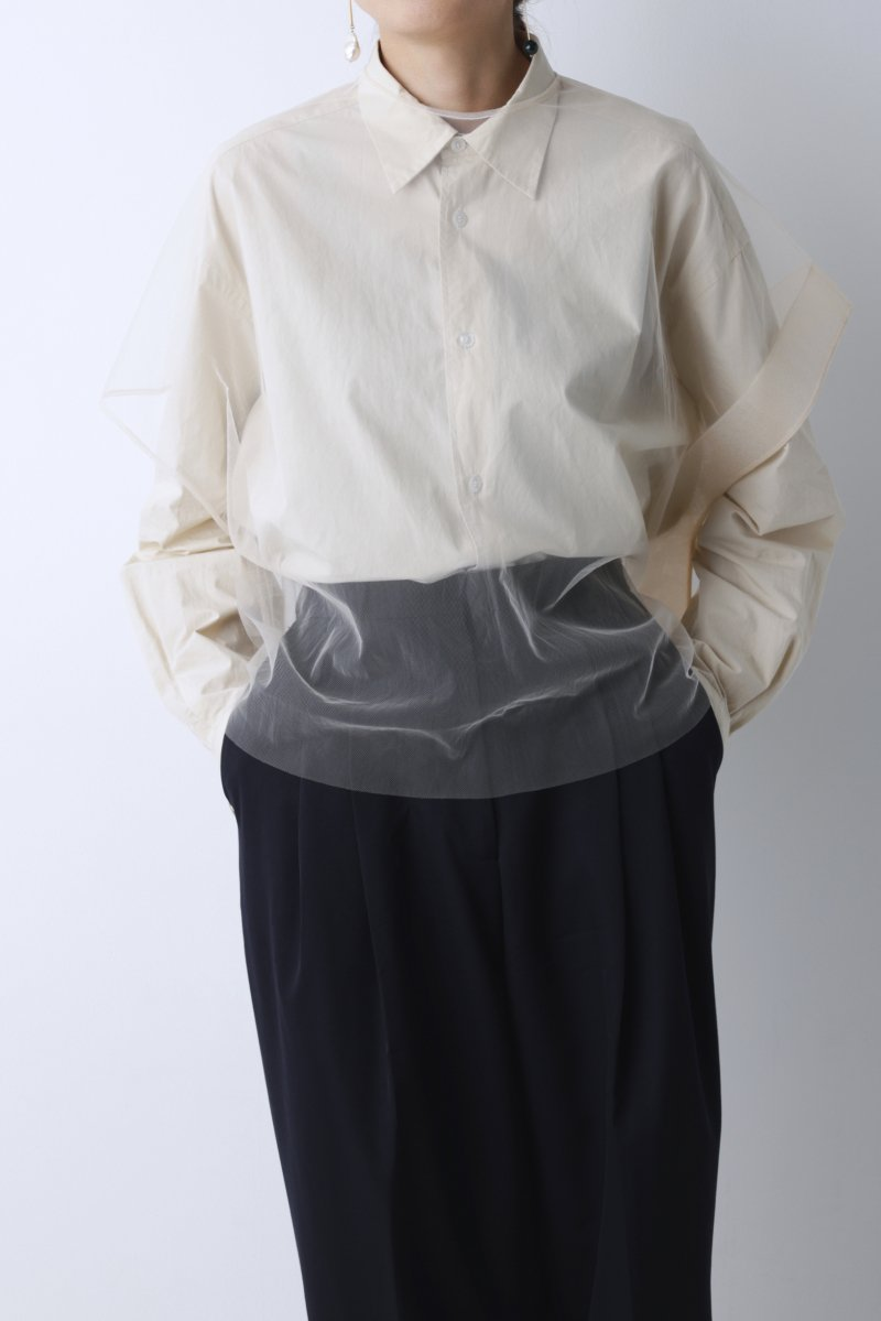 Tulle french sleeve p/o (Sand pink)