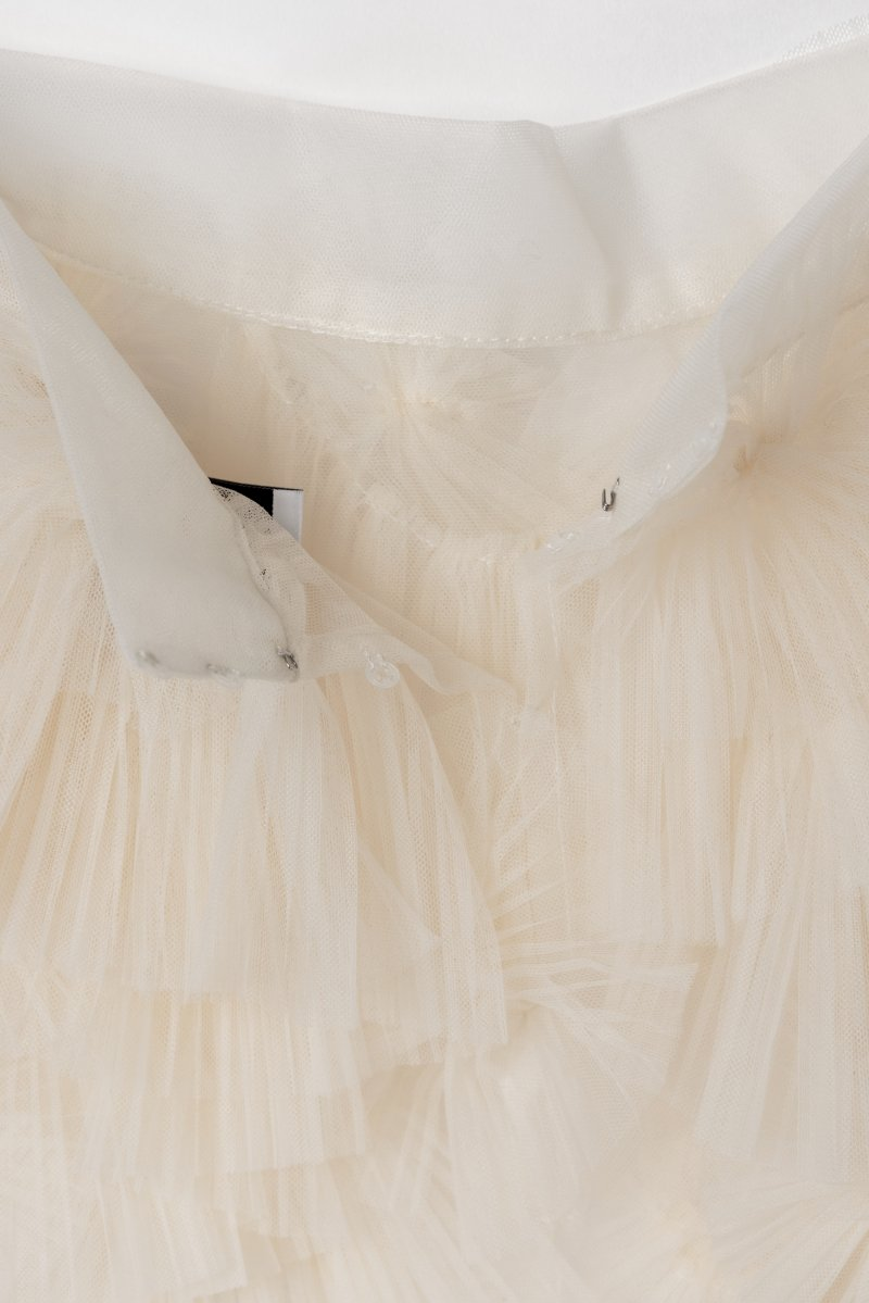 Tulle decorative over skirt