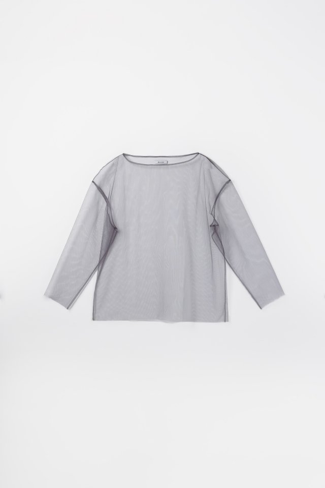Tulle boat neck p/o (Gray)