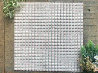 復刻/花子/純シリーズ/美濃焼タイル/モザイクタイル/10mmフラワータイルシート(hk-j)
