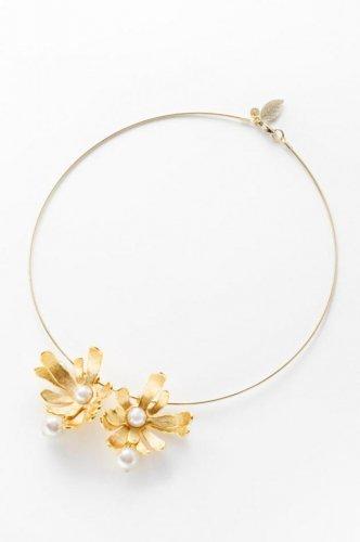 fleur pearl necklace