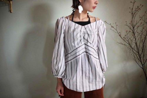cotton stripe shirt black