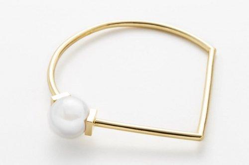 triangle bracelet gold