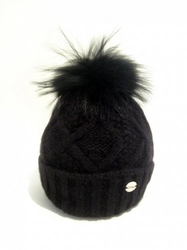 CALIMAR Knit hat-black-