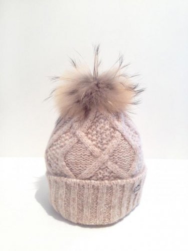 CALIMAR Knit hat-beige-