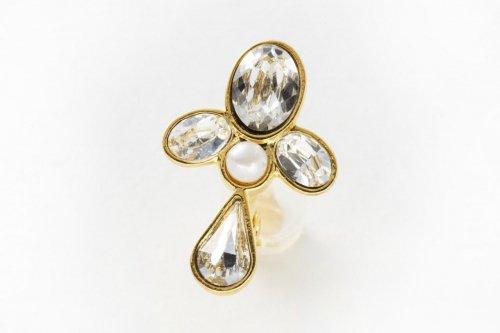 earclip-crystal pearl-
