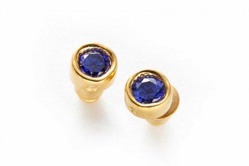 jewel pierced -sapphire-