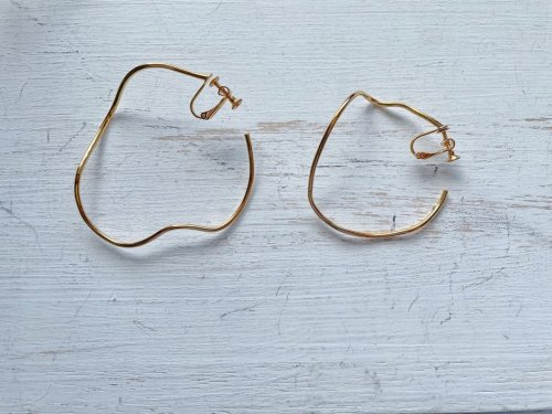 -再入荷-hoop earring-gold-