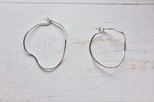 -ご予約-hoop pierced earring-silver-
