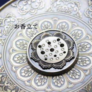 真鍮製 お香立て 蓮の花
