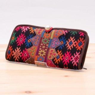 ThongPua モン族刺繍古布のロングウォレット 0031