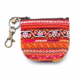 ThongPua モン族のヴィンテージ刺繍キーポーチ0010