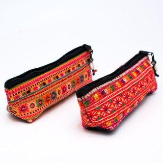 ThongPua モン族刺繍古布ペンケース0151