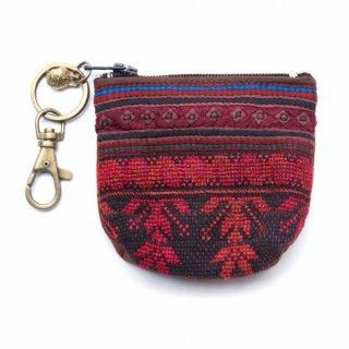 ThongPua モン族のヴィンテージ刺繍キーポーチ 0102