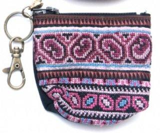 ThongPua モン族のヴィンテージ刺繍キーポーチ0009