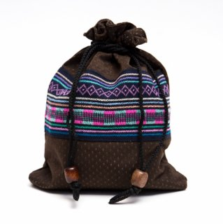 A Bu-Ali(アブアリ)アカ族刺繍巾着マグポーチ0023