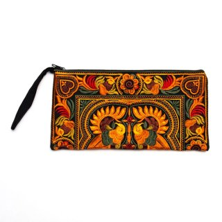 中国モン族(苗族)の大きめ刺繍ポーチ0030