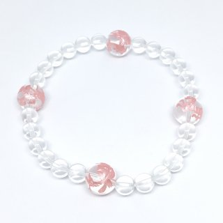 四神彫ブレスレット 桜色