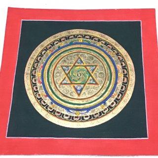 曼陀羅(曼荼羅) ◆約26.5×26.5cm