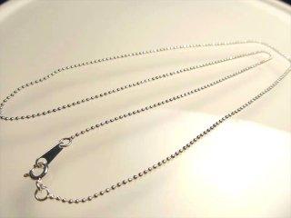 ◆高品質Silver925パーツ◆ペンダントトップの相方!◆カットボールチェーン◆チェーン長さ45cm 幅約1.2mm 金具最大幅約3.5mm◆CHN005◆