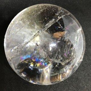 ヒマラヤ虹入水晶スフィア 約54mm 224g 台座付