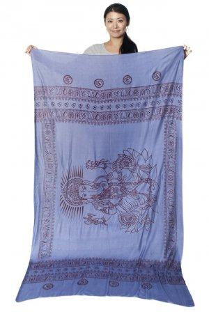 ガネーシャラムナミスカーフ 薄い青