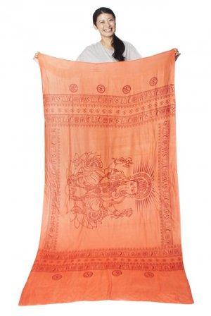 ガネーシャラムナミスカーフ オレンジ