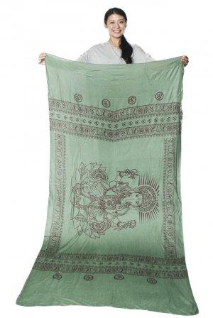ガネーシャラムナミスカーフ 緑