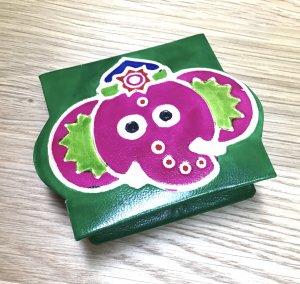 山羊革ガネーシャコインケース グリーン