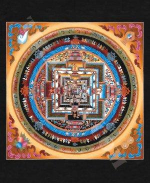 曼陀羅のポスター カーラチャクラマンダラ