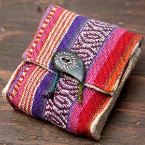 ヘンプとネパールゲリの手作りポーチ
