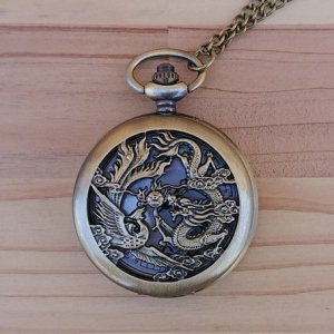 懐中時計 鳳凰と龍