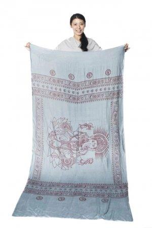 ガネーシャのラムナミスカーフ グレー