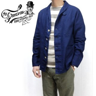 "SUGAR CANE×Mr.FREEDOM SC14593 ""SURPLUS"" COLLECTION 7.7oz. L/C 60/40 INDIGO HBT ""DOCKYARD"" JACKET"
