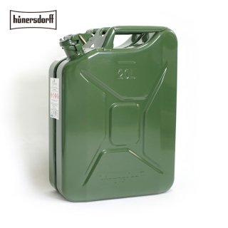 Hunersdorff ヒューナースドルフ [容量20L]メタルキャニスター METAL KANISTER ジェリカン Jerrycan 燃料タンク 給水タンク 携行缶