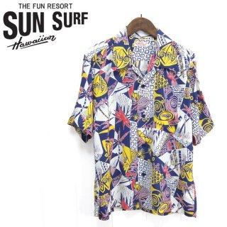 """サンサーフ SunSurf [SS38034] 2019年モデル 半袖アロハシャツ RAYON HAWAIIAN SHIRT """"HAWAIIAN PICTOGRAPH"""""""